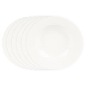 Mäser Sada hlubokých talířů Clasico 21,5 cm, 6 ks, bílá