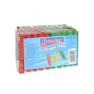 Spontex Kolíčky na prádlo plastové, 50 ks