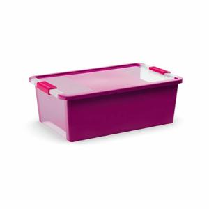 Úložný Bi box M, plastový 26 litrů průhledná/fialová
