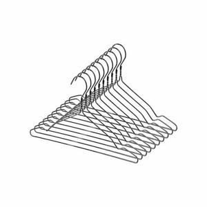 Compactor 10dílná sada kovových ramínek, černá