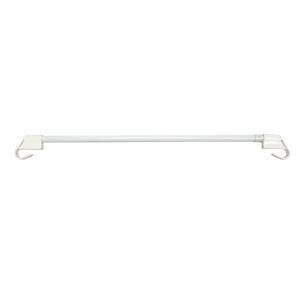 Gardinia Vitrážní tyčka vzpěrná bílá, 75 - 125 cm