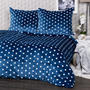 4Home povlečení mikroflanel Stars modrá, 140 x 200 cm, 70 x 90 cm, 140 x 200 cm, 70 x 90 cm