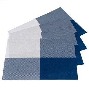 JAHU Prostírání DeLuxe modrá, 30 x 45 cm, sada 4 ks