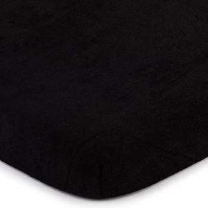 4Home froté prostěradlo černá, 180 x 200 cm