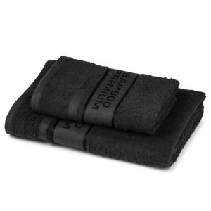 4Home Sada Bamboo Premium osuška a ručník černá, 70 x 140 cm, 50 x 100 cm