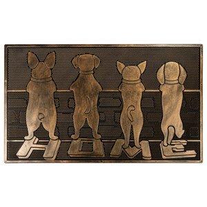 BO-MA Trading Gumová rohožka Hlídači, 40 x 60 cm
