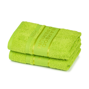 4Home Ručník Bamboo Premium zelená, 30 x 50 cm, sada 2 ks
