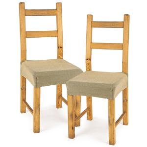 4Home Multielastický potah na sedák na židli Comfort béžová, 40 - 50 cm, sada 2 ks