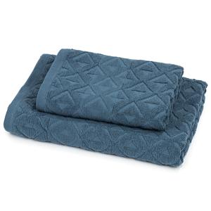Trade Concept Sada Rio ručník a osuška tmavě modrá, 50 x 100 cm, 70 x 140 cm