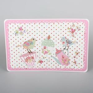 Dakls Prostírání Ptáčci růžová, 43 x 28 cm