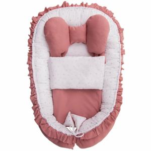 Belisima hnízdečko s peřinkou Angel Baby růžové
