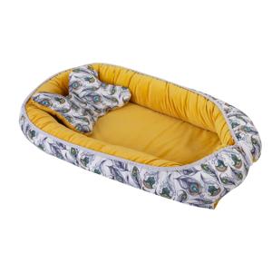 Babymatex Hnízdečko Velvet žlutá, 55 x 80 cm