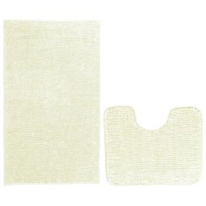 AmeliaHome Sada koupelnových předložek Bati bílá, 2 ks 50 x 80 cm, 40 x 50 cm