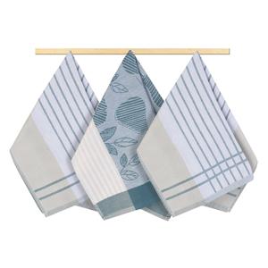 Bellatex Kuchyňská utěrka proužek šedomodrá, 50 x 70 cm, sada 3 ks