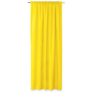 AmeliaHome Závěs Oxford Pleat žlutá, 140 x 250 cm