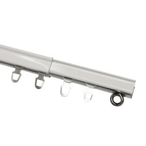 Gardinia Kolejnička U-Ext roztažná komplet 160 - 300 cm, bílá, 160 - 300 cm