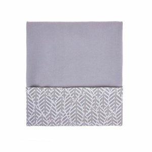 Womar Dětská bavlněná deka Velvet šedá, 75 x 100 cm