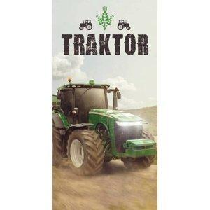 Jerry Fabrics Osuška Traktor green, 70 x 140 cm