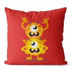 Domarex Povlak na polštářek Kids Červi červená, 45 x 45 cm