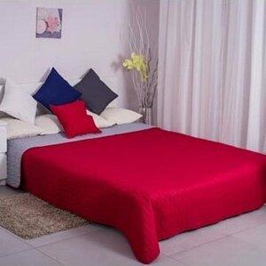 Domarex Oboustranný přehoz na postel Canti červená/šedá, 220 x 240 cm