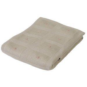 Babymatex Dětská deka Accent béžová, 80 x 100 cm