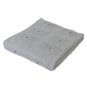 Babymatex Dětská deka Accent světle šedá, 80 x 100 cm