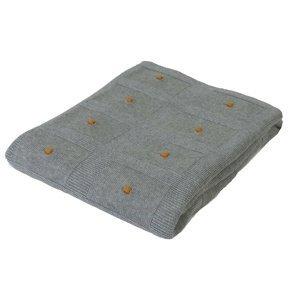 Babymatex Dětská deka Accent tmavě šedá, 80 x 100 cm