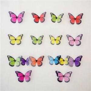 Samolepicí 3D motýlci barevné, 19 ks