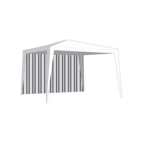 Náhradní bočnice k zahradnímu altánu bez okna v bílé barvě VETRO-PLUS VTO.A9215