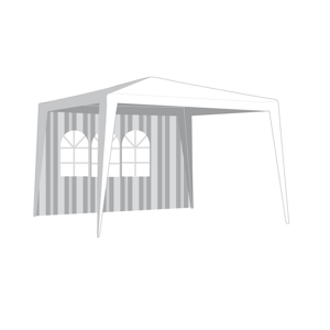 Bočnice zahradního stanu s oknem, pruhy VETRO-PLUS 50ZJ10292W