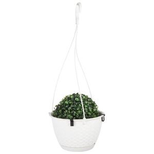 Nohel Garden Květník závěsný RATOLLA ROUND W plastový 22x14cm, bílá