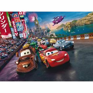 AG Art Dětská fototapeta XXL Blesk McQueen a jeho přátelé 360 x 270 cm, 4 díly
