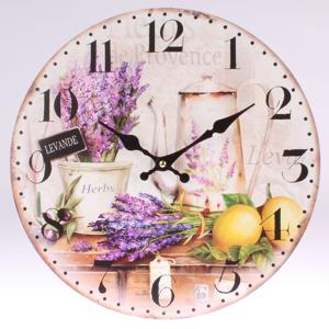 Dřevěné nástěnné hodiny Levande, 34 cm