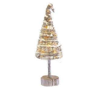 Vánoční dřevěný strom s osvětlením, 50 cm