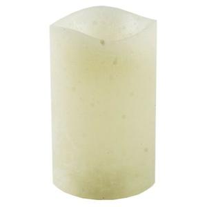 LED svíčka potažená voskem 7,6 x 12 cm, krémová
