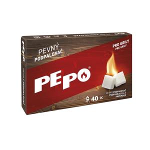 PE-PO Pevný podpalovač krabička, 40 podpalů