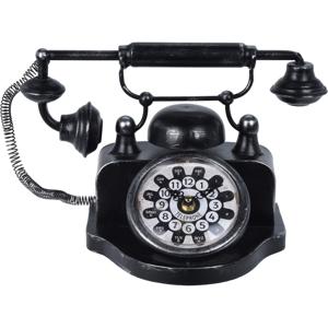 Koopman Stolní hodiny Old telephone, černá