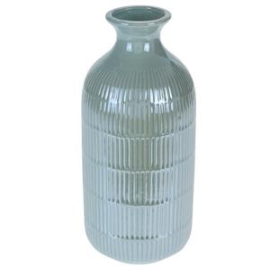 Váza Loarre zelená, 10,5 x 22,5 cm