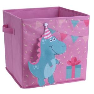 Dětský úložný box Dinosaurus, 32 x 32 x 30 cm