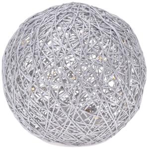 Svítící koule na baterie s 15 LED, pr. 15 cm, teplá bílá