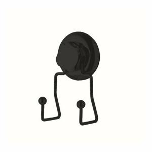 Dvojitý háček do koupelny Compactor Bestlock Black s přísavkou-bez vrtání, nosnost až 6kg