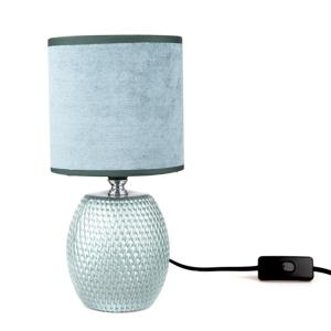 Keramická stolní lampa Luna, modrá, 13 x 26,5 x 13 cm