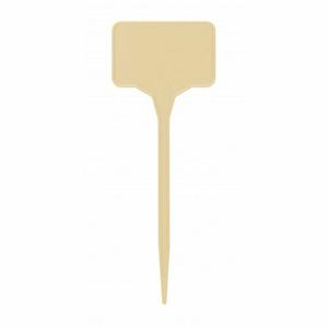 Plastia Popisovací plastová jmenovka béžová, 15 ks