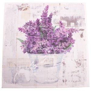 Obraz na plátně s levandulí Vintage, 28 x 28 cm