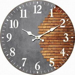 Dřevěné nástěnné hodiny Halved wall, pr. 34 cm