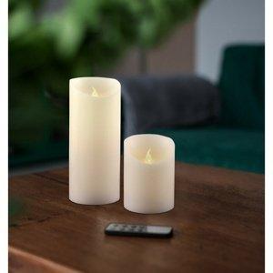 Sada Voskových LED svíček s dálkovým ovladačem, 7,5 x 15 cm, 2 ks