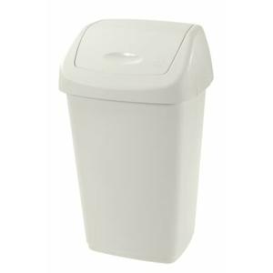 Výklopný koš na odpadky Swing Aurora 15 l, bílá