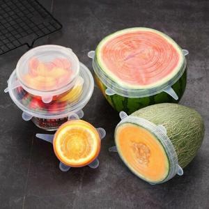 4Home Silikonová víčka na potraviny Fresh, 6 ks