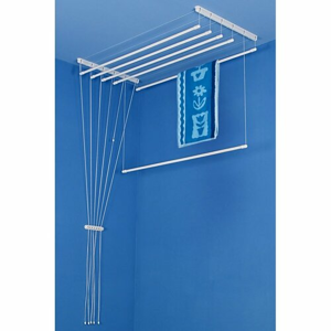 ALDO Stropní sušák na prádlo Ideal 6 tyčí 150 cm - Bílá