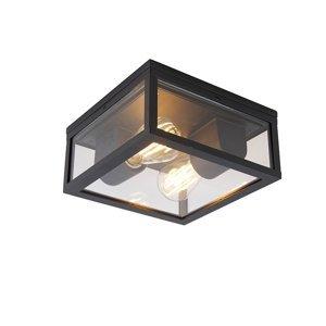 Průmyslové stropní svítidlo černé IP44 - Charlois